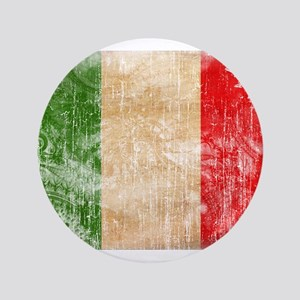 "Italy Flag 3.5"" Button"