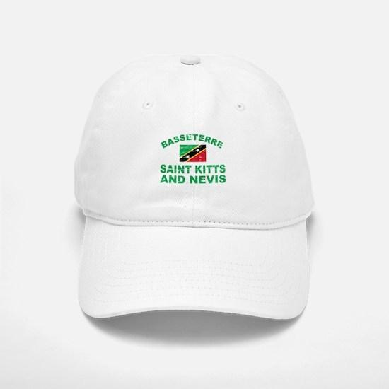Basseterre Saint Kitts and Nevis designs Baseball Baseball Cap