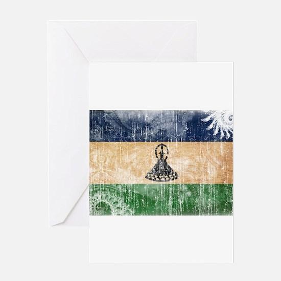 Lesotho Flag Greeting Card
