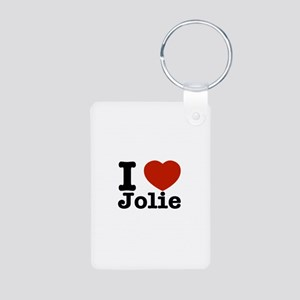 I love Jolie Aluminum Photo Keychain