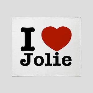 I love Jolie Throw Blanket