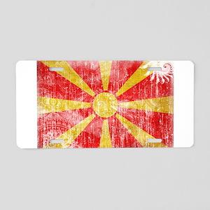 Macedonia Flag Aluminum License Plate