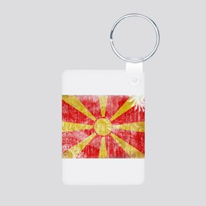 Macedonia Flag Aluminum Photo Keychain