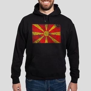 Macedonia Flag Hoodie (dark)