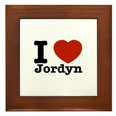 I love Jordyn Framed Tile