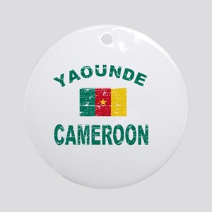 Yaounde Cameroon designs Ornament (Round)