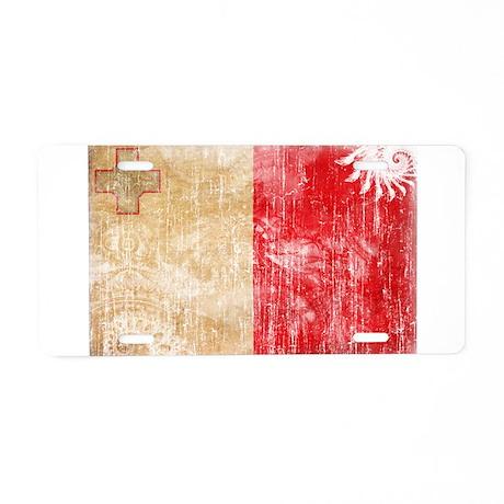 Malta Flag Aluminum License Plate