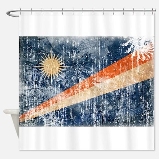 Marshall Islands Flag Shower Curtain