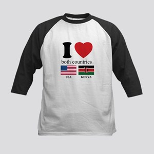 USA-KENYA Kids Baseball Jersey