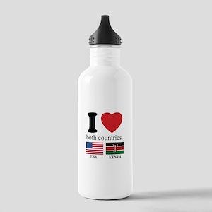 USA-KENYA Stainless Water Bottle 1.0L