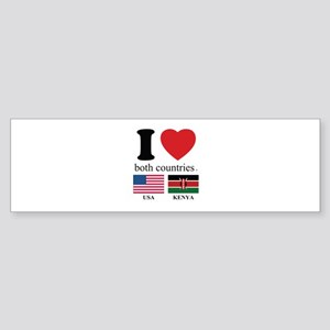 USA-KENYA Sticker (Bumper)