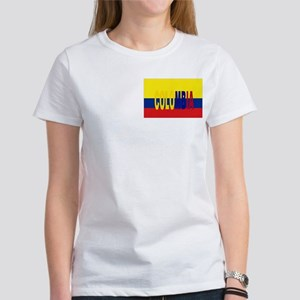 Colombia flag & Colombia name written Women's T-Sh