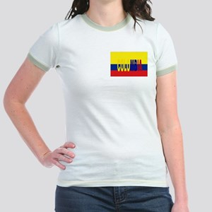 Colombia flag & Colombia name written Jr. Ringer T