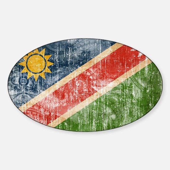 Namibia Flag Sticker (Oval)