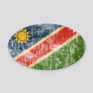 Namibia Flag Oval Car Magnet