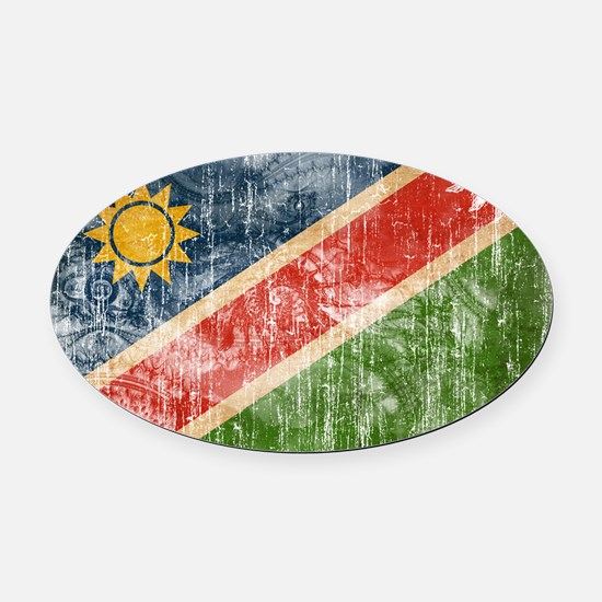 Namibia Flag Oval Car Magnet