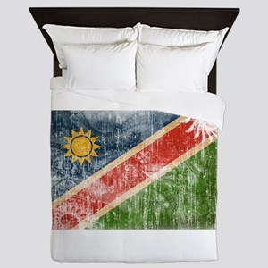 Namibia Flag Queen Duvet
