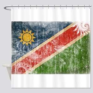 Namibia Flag Shower Curtain