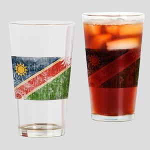Namibia Flag Drinking Glass