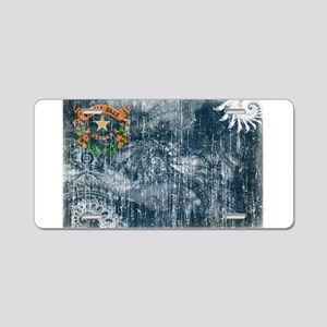 Nevada Flag Aluminum License Plate