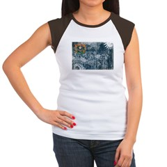 Nevada Flag Women's Cap Sleeve T-Shirt
