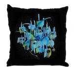 Atom Sea Throw Pillow