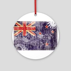 New Zealand Flag Ornament (Round)