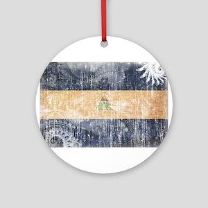 Nicaragua Flag Ornament (Round)