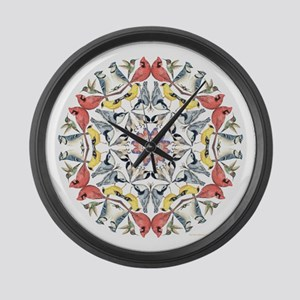 birds birds birds Large Wall Clock