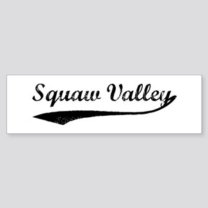 Squaw Valley - Vintage Bumper Sticker