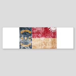 North Carolina Flag Sticker (Bumper)