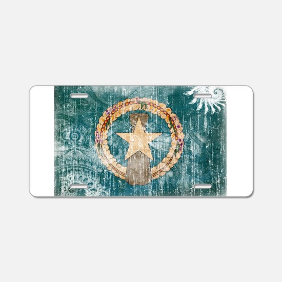 """Northern Mariana Islands Flag"" Aluminum License P"