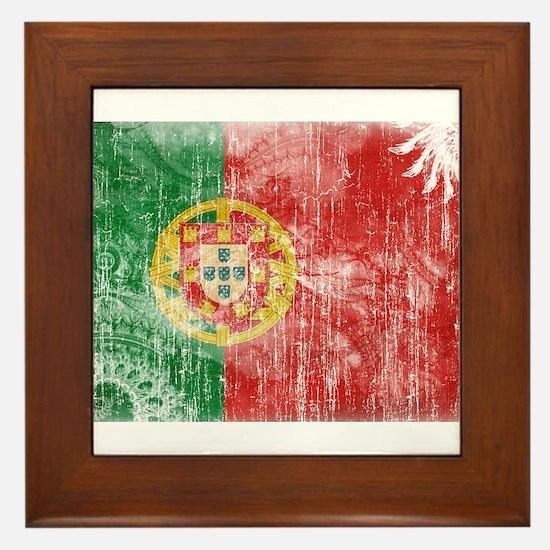 Portugal Flag Framed Tile