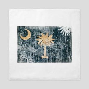South Carolina Flag Queen Duvet