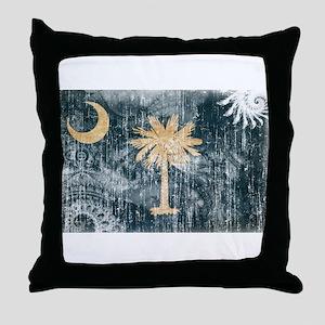 South Carolina Flag Throw Pillow