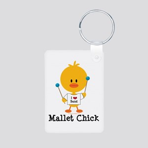 Mallet Chick Aluminum Photo Keychain