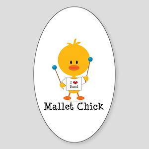Mallet Chick Sticker (Oval)