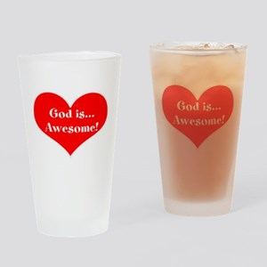 God is Awesome! Heart, Drinking Glass