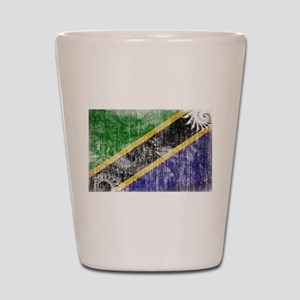 Tanzania Flag Shot Glass