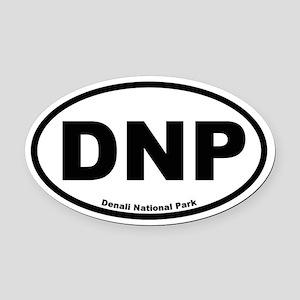 Denali National Park Oval Car Magnet