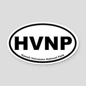 Hawaii Volcanoes National Park Oval Car Magnet