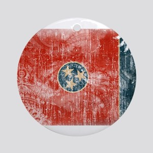 Tennessee Flag Ornament (Round)