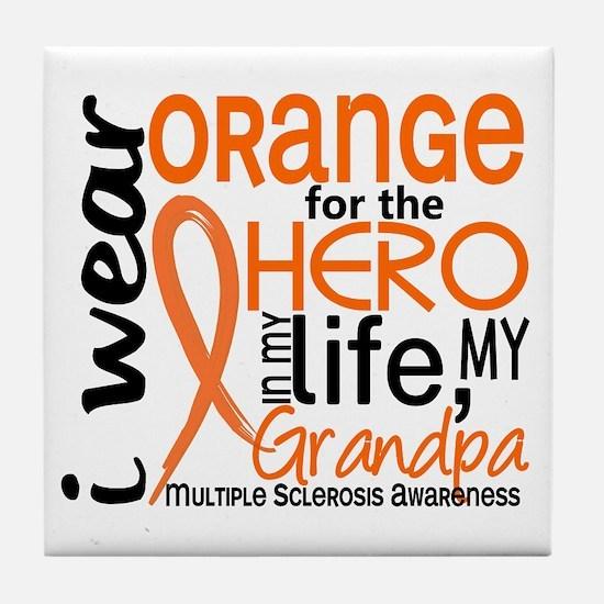 Hero In Life 2 MS Tile Coaster