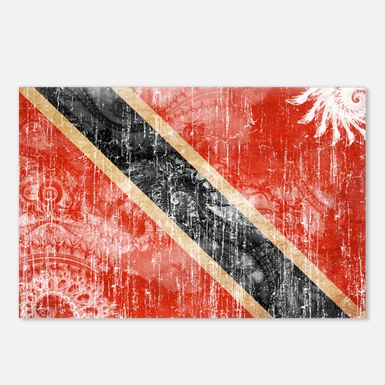Trinidad and Tobago Flag Postcards (Package of 8)