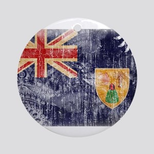 Turks and Caicos Flag Ornament (Round)