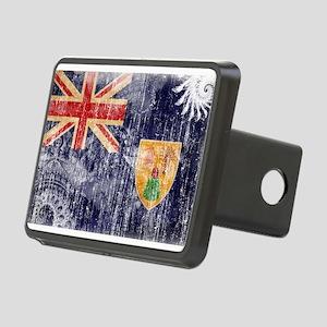 Turks and Caicos Flag Rectangular Hitch Cover