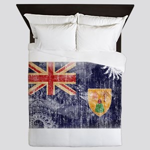 Turks and Caicos Flag Queen Duvet