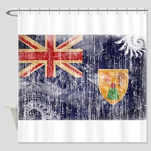 Turks and Caicos Flag Shower Curtain
