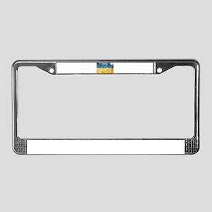 Ukraine Flag License Plate Frame