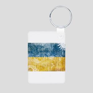 Ukraine Flag Aluminum Photo Keychain